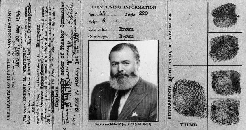 Ernest Hemingway Identification