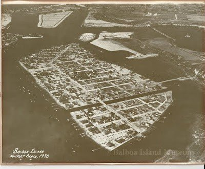 1930 aerial of Balboa Island - T.S. Eliot in Love and Los Angeles: A Photo Essay